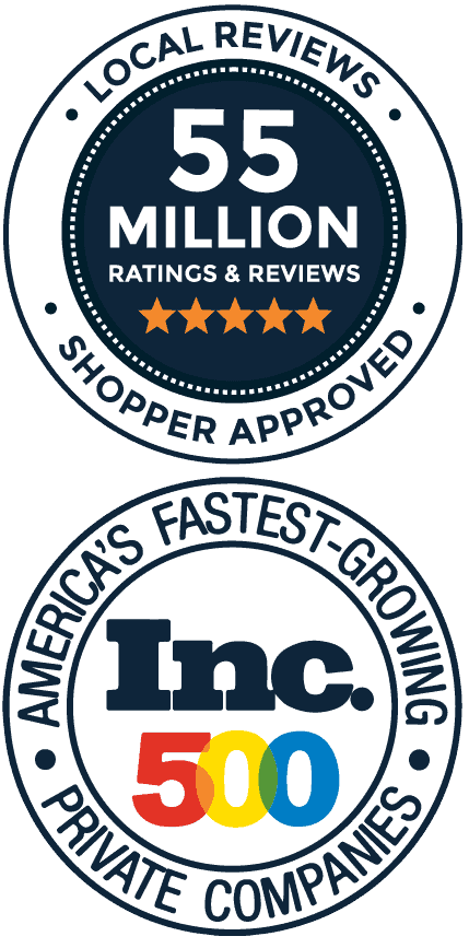 Shopper Approved Local Reviews badge - Inc. 500