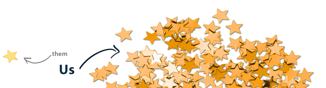 moving stars to symbolize syndicated reviews