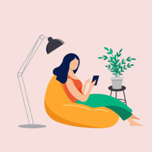 a woman using her phone