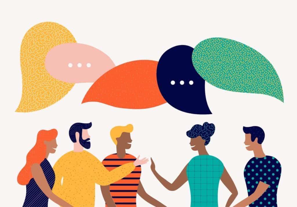 discuss social network, news, chat, dialogue speech bubbles get more more customer reviews