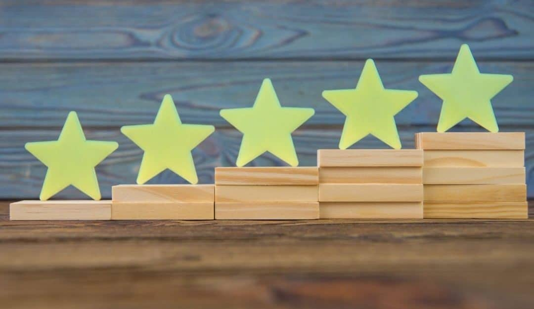asscending stars depicting what are google seller ratings