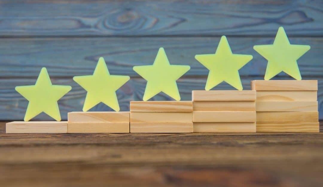 asscending stars depicting what are google seller ratings