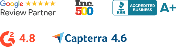 Shopper Approved, Google, Inc500, BBB, G2, Capterra